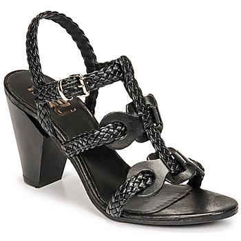 Schoenen Dames Sandalen / Open schoenen Mimmu TRECCIA-P-NERO Zwart