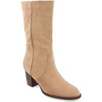 Schoenen Dames Hoge laarzen Buonarotti 1A-0462 Beige