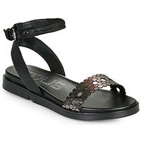 Schoenen Dames Sandalen / Open schoenen Mjus KETTA Zwart / Zilver
