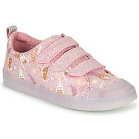Schoenen Meisjes Lage sneakers Clarks FOXING PRINT T Roze