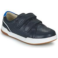 Schoenen Kinderen Lage sneakers Clarks FAWN SOLO K Marine