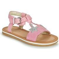 Schoenen Meisjes Sandalen / Open schoenen Clarks FINCH SUMMER K Roze