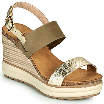 Schoenen Dames Sandalen / Open schoenen Plakton PLAKA Kaki / Goud