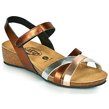 Schoenen Dames Sandalen / Open schoenen Plakton NOTE  cuivré / Roze / Zilver