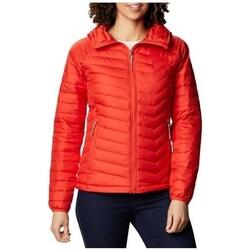 Textiel Dames Jacks / Blazers Columbia WM Powder Lite Hooded Jacket Rouge