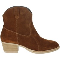Schoenen Dames Enkellaarzen Riposella IC-31 Brown leather