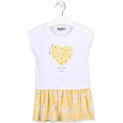 Textiel Meisjes Korte jurken Losan 016-7021AL Wit