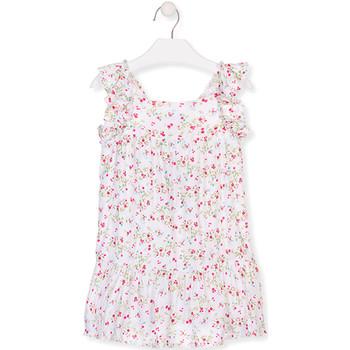 Textiel Meisjes Korte jurken Losan 016-7031AL Wit