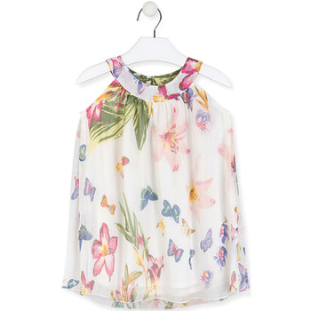 Textiel Meisjes Korte jurken Losan 016-7793AL Wit