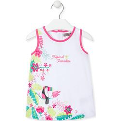 Textiel Meisjes Korte jurken Losan 018-7005AL Wit