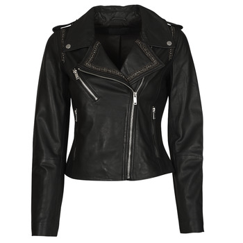 Textiel Dames Leren jas / kunstleren jas Ikks BQ48045-02 Zwart