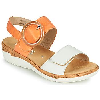 Schoenen Dames Sandalen / Open schoenen Remonte Dorndorf ORAN Orange / Wit