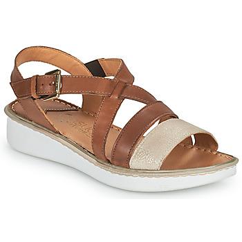 Schoenen Dames Sandalen / Open schoenen Casual Attitude ODETTE  camel / Goud