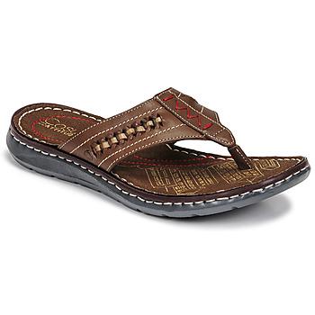 Schoenen Heren Slippers Casual Attitude OPOM Brown