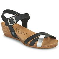 Schoenen Dames Sandalen / Open schoenen Casual Attitude OYA Zwart / Zilver