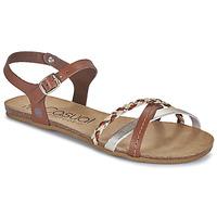 Schoenen Dames Sandalen / Open schoenen Casual Attitude ODIA  camel / Goud