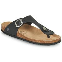 Schoenen Dames Slippers Casual Attitude OXOA Zwart