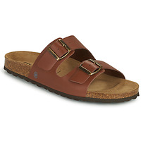 Schoenen Heren Leren slippers Casual Attitude OMAO Brown