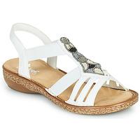 Schoenen Dames Sandalen / Open schoenen Rieker DOLNA Wit