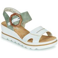 Schoenen Dames Sandalen / Open schoenen Rieker SOLLA Groen / Wit