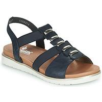 Schoenen Dames Sandalen / Open schoenen Rieker NINNA Blauw