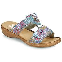 Schoenen Dames Leren slippers Rieker FOUNNA Multicolour