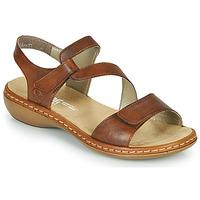 Schoenen Dames Sandalen / Open schoenen Rieker ZAZIE Brown