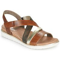 Schoenen Dames Sandalen / Open schoenen Rieker MARRO Brown / Zilver