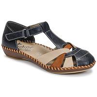 Schoenen Dames Sandalen / Open schoenen Rieker BLUE Blauw / Brown