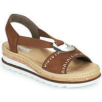 Schoenen Dames Sandalen / Open schoenen Rieker FARRO Brown