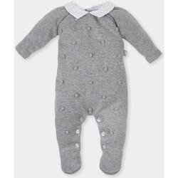 Textiel Meisjes Jumpsuites / Tuinbroeken Tutto Piccolo Barboteuse tricot longue / longue Grijs