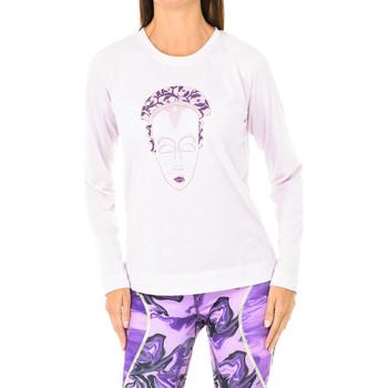 Textiel Dames T-shirts met lange mouwen Buff T-shirt long Roze