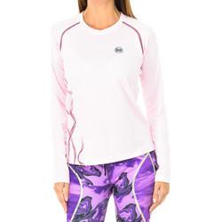 Textiel Dames T-shirts met lange mouwen Buff Chemise technique à manches longues Roze