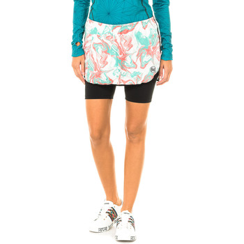 Textiel Dames Korte broeken / Bermuda's Buff Short de course avec collants courts Multicolour
