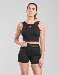 Textiel Dames Sport BHs adidas Performance W 3S CRO Zwart