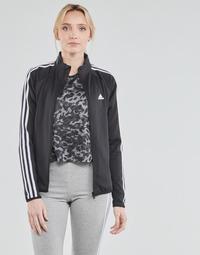 Textiel Dames Trainings jassen adidas Performance W 3S TJ Zwart