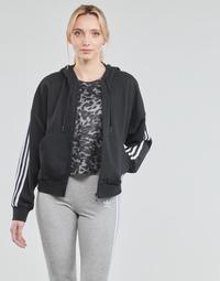 Textiel Dames Trainings jassen adidas Performance W 3S FZ HD Zwart