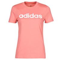 Textiel Dames T-shirts korte mouwen adidas Performance W LIN T Roze