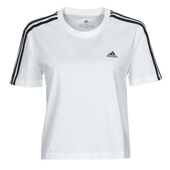 Textiel Dames T-shirts korte mouwen adidas Performance W 3S CRO T Wit