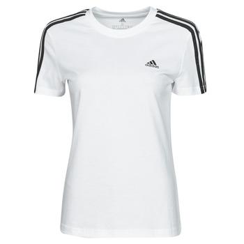 Textiel Dames T-shirts korte mouwen adidas Performance W 3S T Wit