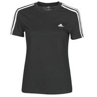 Textiel Dames T-shirts korte mouwen adidas Performance W 3S T Zwart