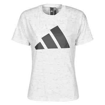 Textiel Dames T-shirts korte mouwen adidas Performance W WIN 2.0 TEE Wit