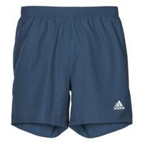 Textiel Heren Korte broeken / Bermuda's adidas Performance RUN IT SHORT Blauw