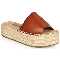 Schoenen Dames Leren slippers Refresh ETINNA  camel