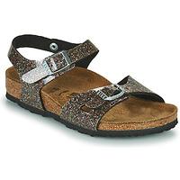Schoenen Meisjes Sandalen / Open schoenen Birkenstock RIO Zwart / Goud