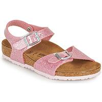 Schoenen Meisjes Sandalen / Open schoenen Birkenstock RIO PLAIN Roze