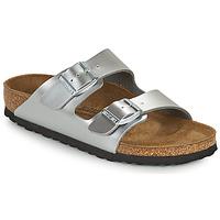 Schoenen Meisjes Leren slippers Birkenstock ARIZONA Zilver