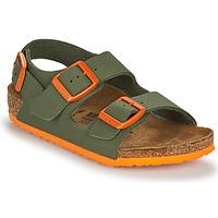 Schoenen Jongens Sandalen / Open schoenen Birkenstock MILANO Kaki / Orange
