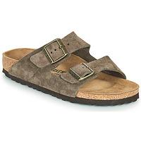 Schoenen Dames Leren slippers Birkenstock ARIZONA Brown