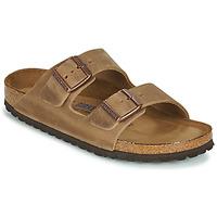 Schoenen Dames Leren slippers Birkenstock ARIZONA SFB Brown